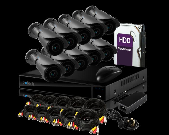 16 Channel Full HD Zxtech 2 Megapixel 1080P FHD Cloud XVR Video Motion Recorder