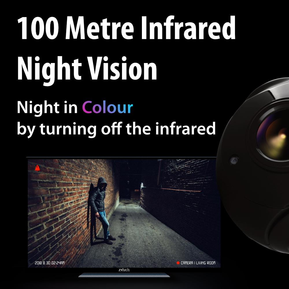 100M Night VisionZxtech 5MP 20x Zoom PTZ Wireless PoE 3-in-1 IP CCTV Camera Tropox Max MCPWD52S