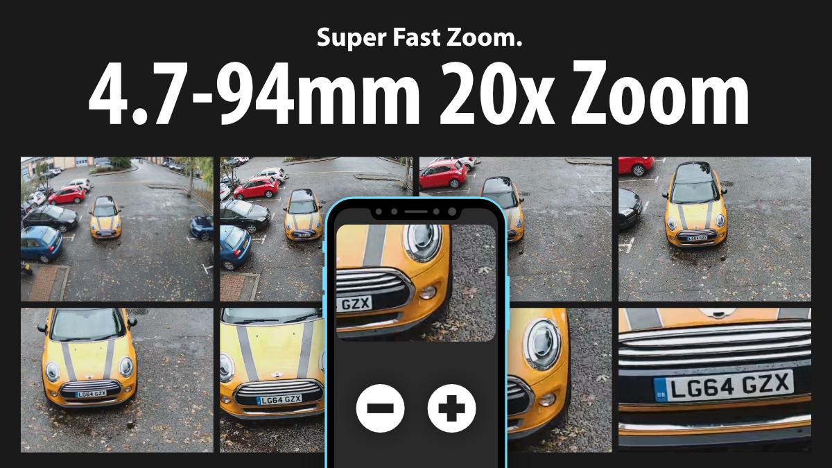 20x zoom Zxtech 5MP 20x Zoom PTZ Wireless PoE 3-in-1 IP CCTV Camera Tropox Max MCPWD52S