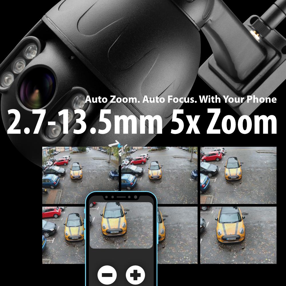 Elegant pan tilt zoom camera