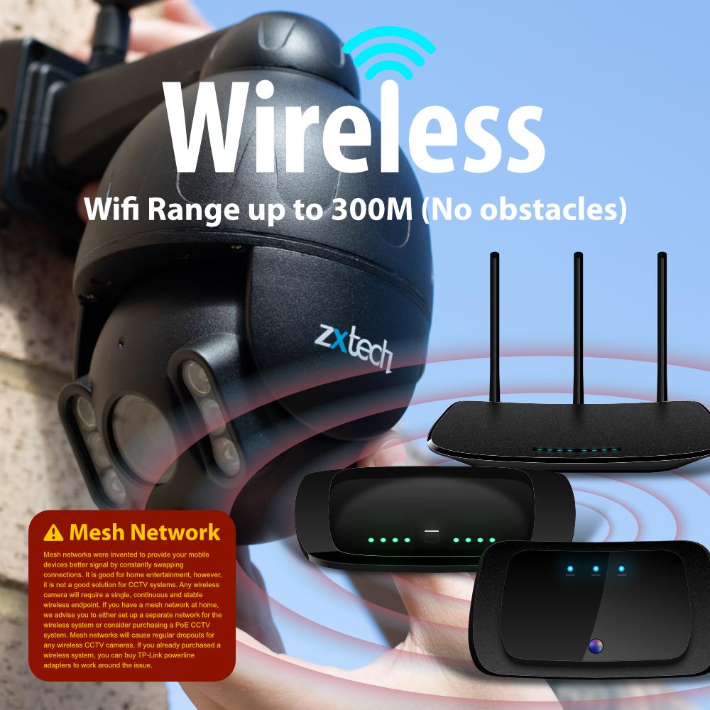complete wireless ptz cctv