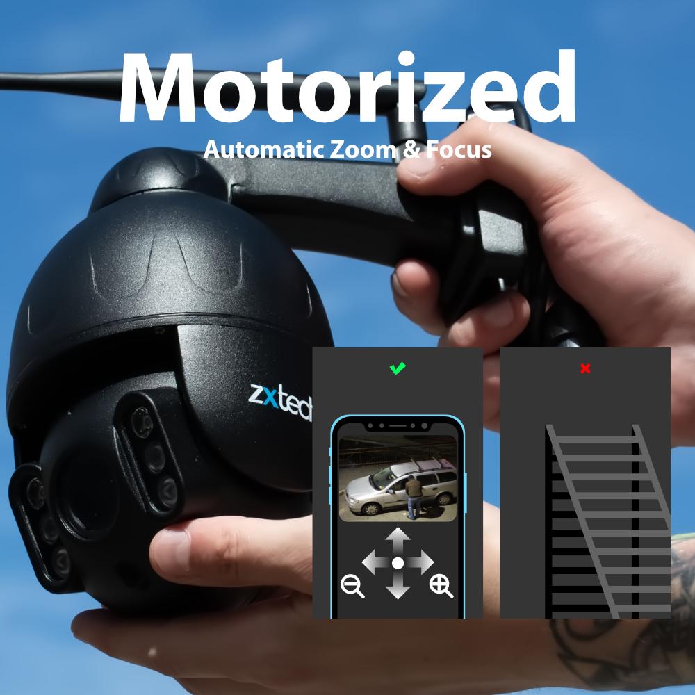 motorised auto control ptz wireless camera outdoor