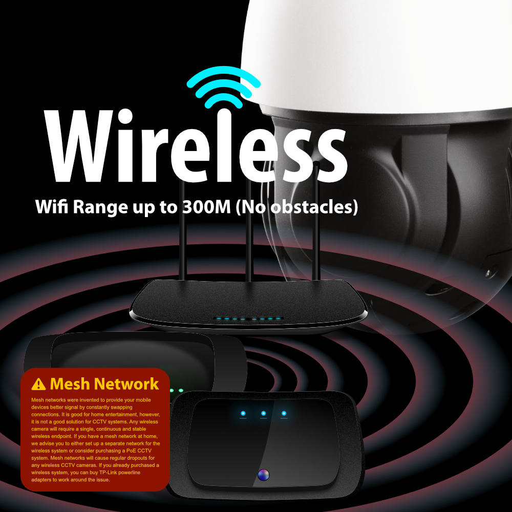 wireless Zxtech 5MP 20x Zoom PTZ Wireless PoE 3-in-1 IP CCTV Camera Tropox Max MCPWD52S