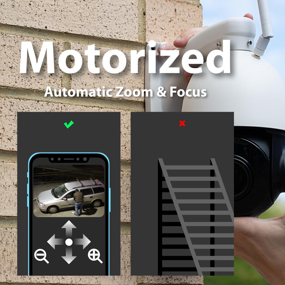 Motorised Zxtech 5MP 20x Zoom PTZ Wireless PoE 3-in-1 IP CCTV Camera Tropox Max MCPWD52S