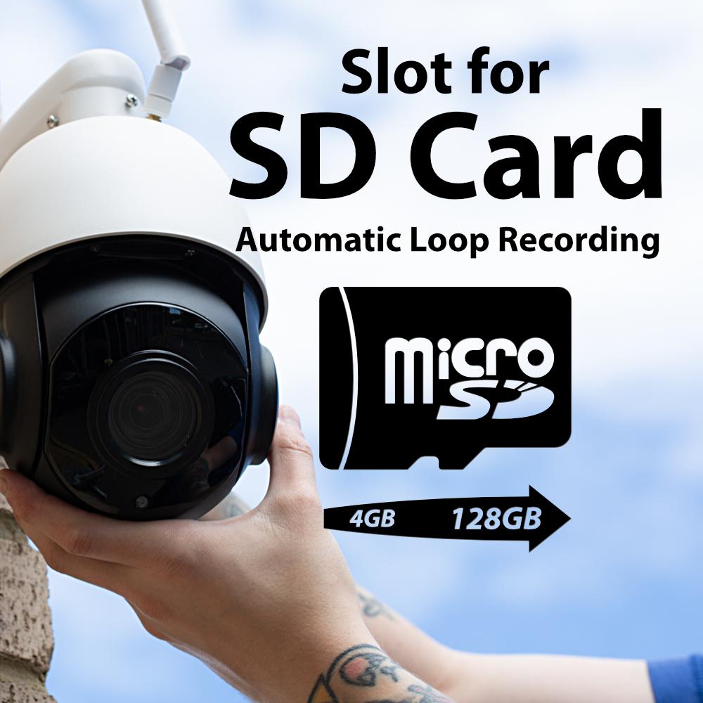 SD Card Zxtech 5MP 20x Zoom PTZ Wireless PoE 3-in-1 IP CCTV Camera Tropox Max MCPWD52S