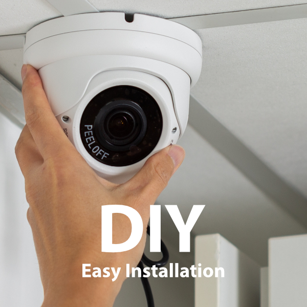 Zxtech 7 x 5MP Varifocal Audio Sony Chip Cameras PoE IP Camera System | FP7A8Y