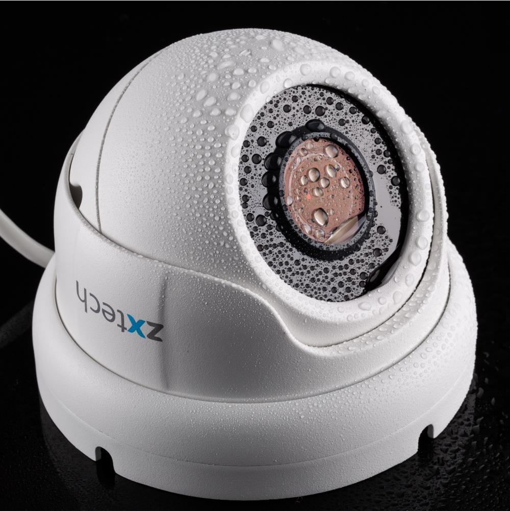 Zxtech 4 x 5MP Motorized Lens Audio Sony Chip PoE CCTV System | FP4G4X