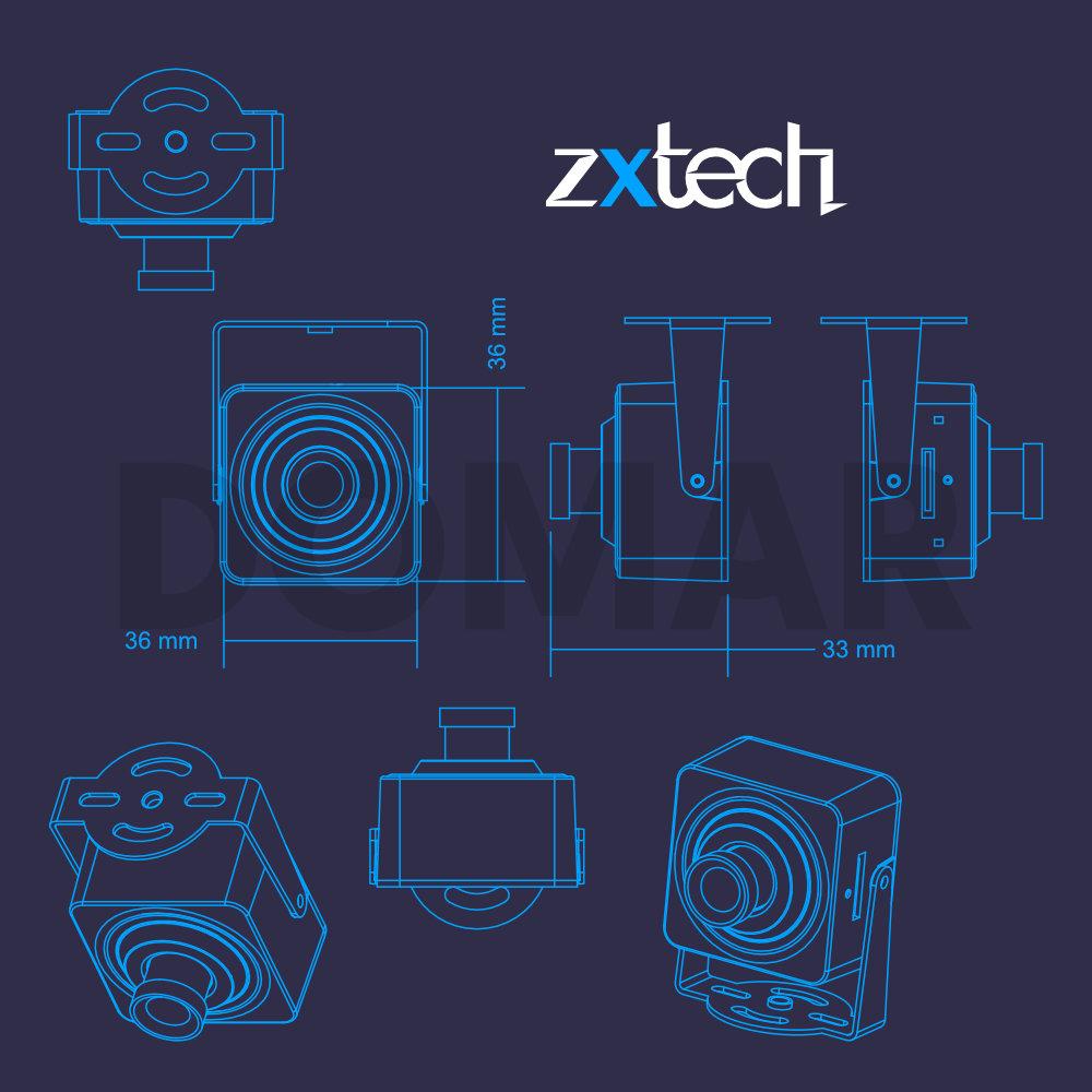 Zxtech PEEK Covert Wireless Full HD Miniature CCTV Camera