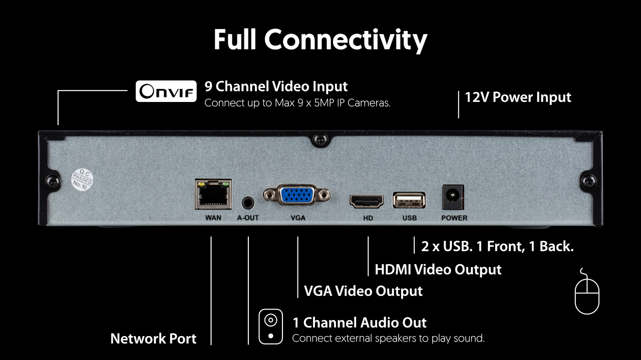 best 8/9 channel NVR recorder for IP Cameras