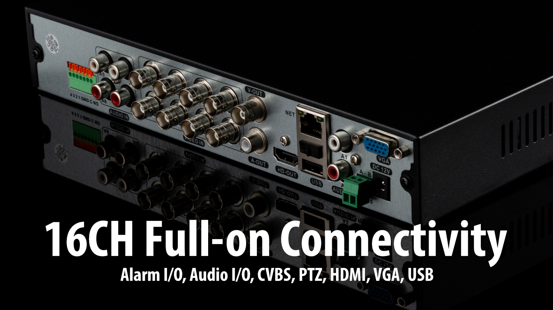 5MP AHD Security System Full Hybrid Recorder HD Analog Camera IP66 Clear Night Vision | AF6A8Y