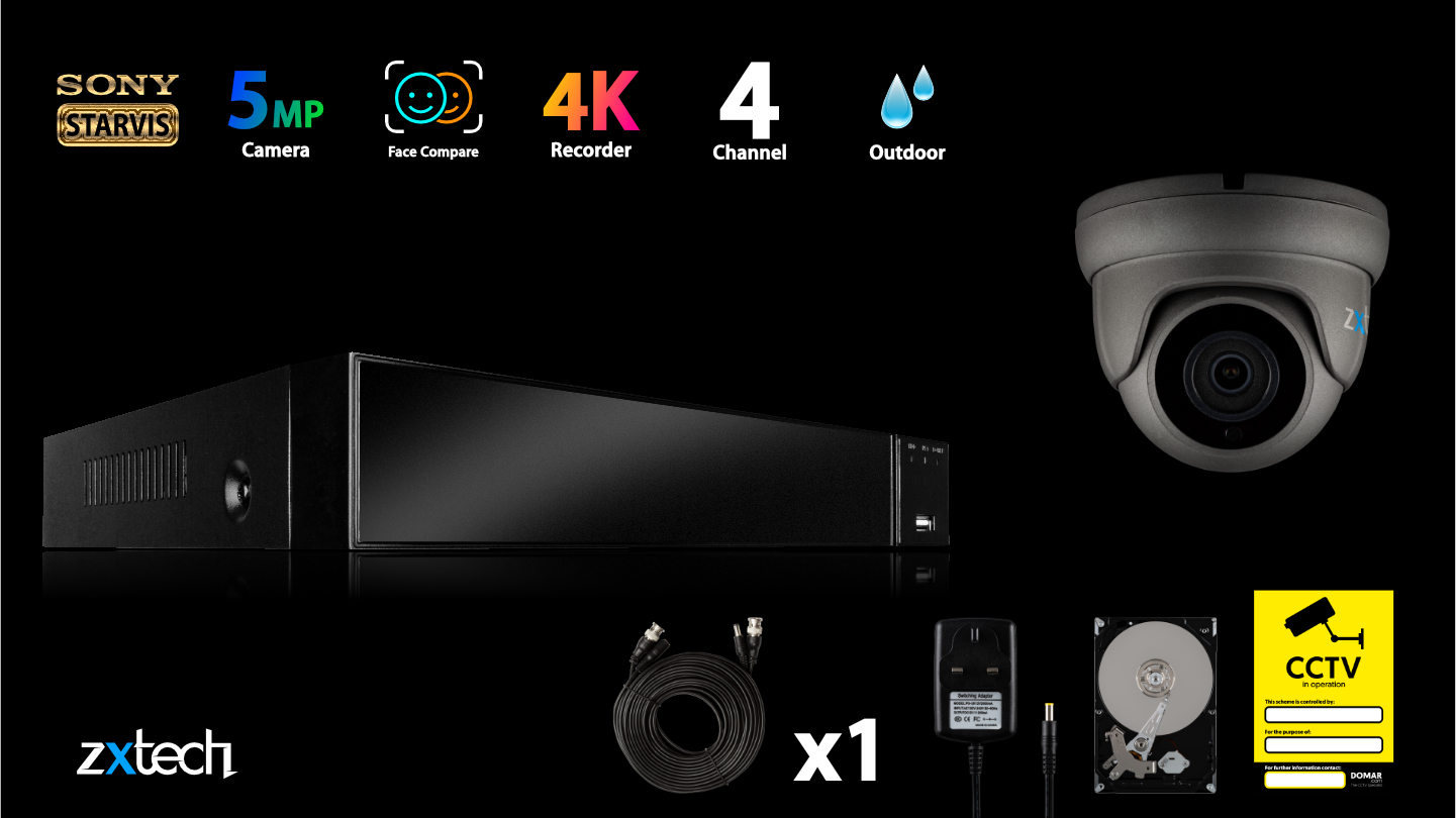 5MP AHD CCTV System HD Analog Camera Waterproof Night Vision 66 feet   AF1B4Z