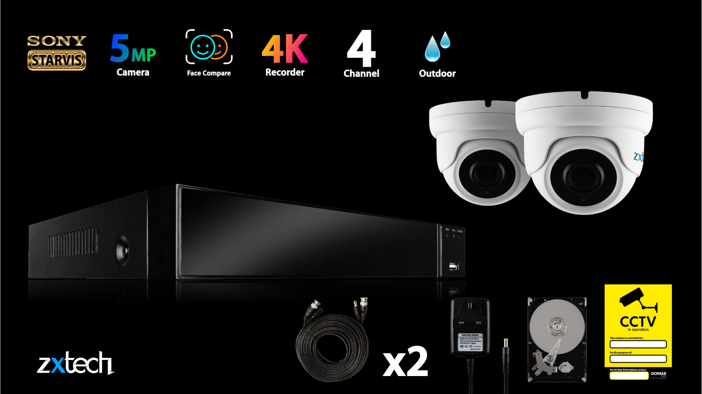 5MP AHD Security System Home HD Analog Camera Wide Angle | AF2A4Z