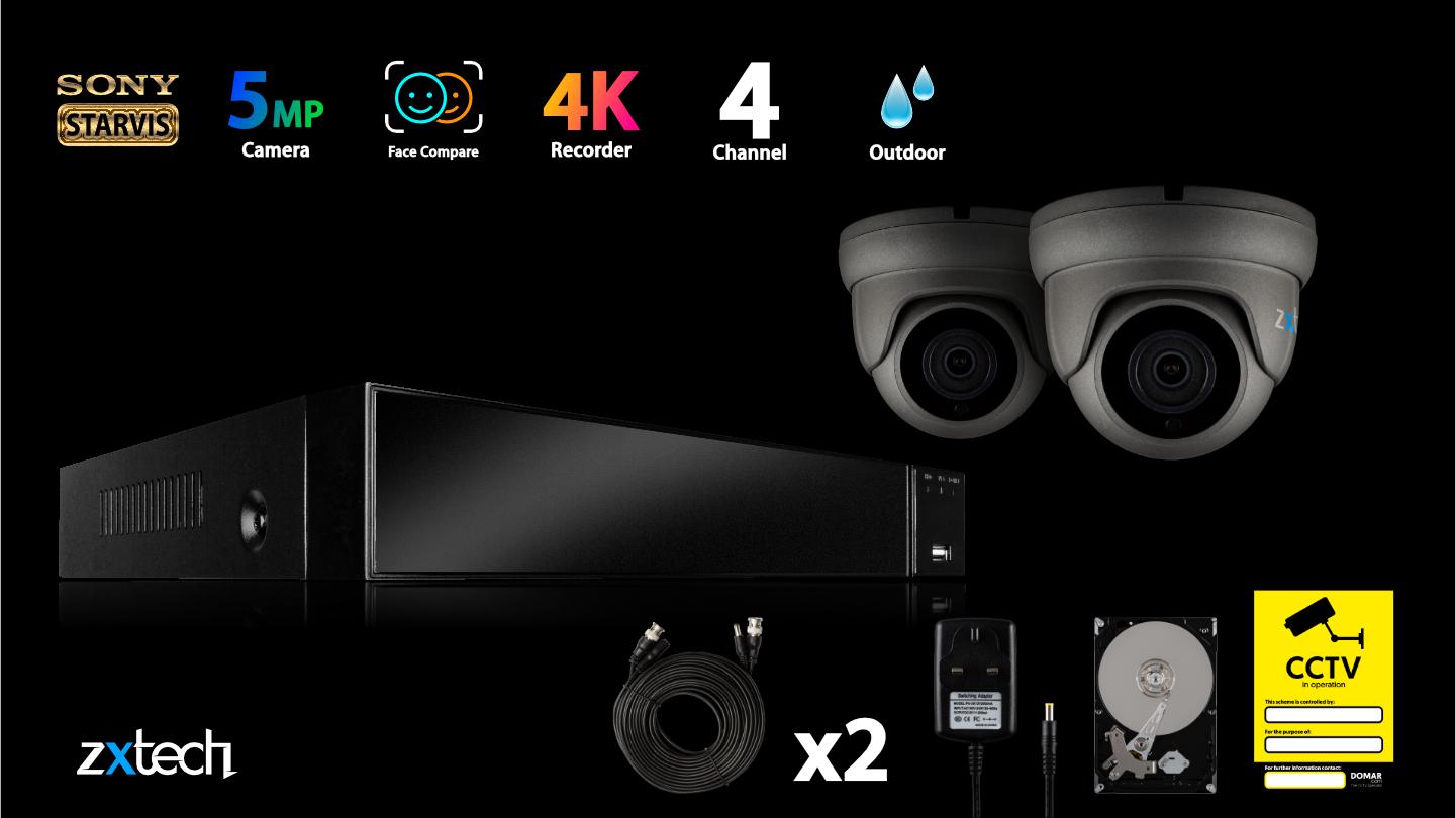 5MP AHD Camera System DVR Security P2P HD Analog Camera IR LED | AF2B4Z