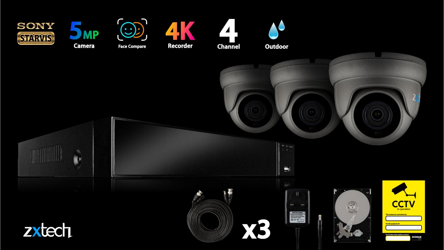 5MP AHD CCTV System Home Mobile Alert Face Motion Detect HD Analog Camera | AF3B4Z