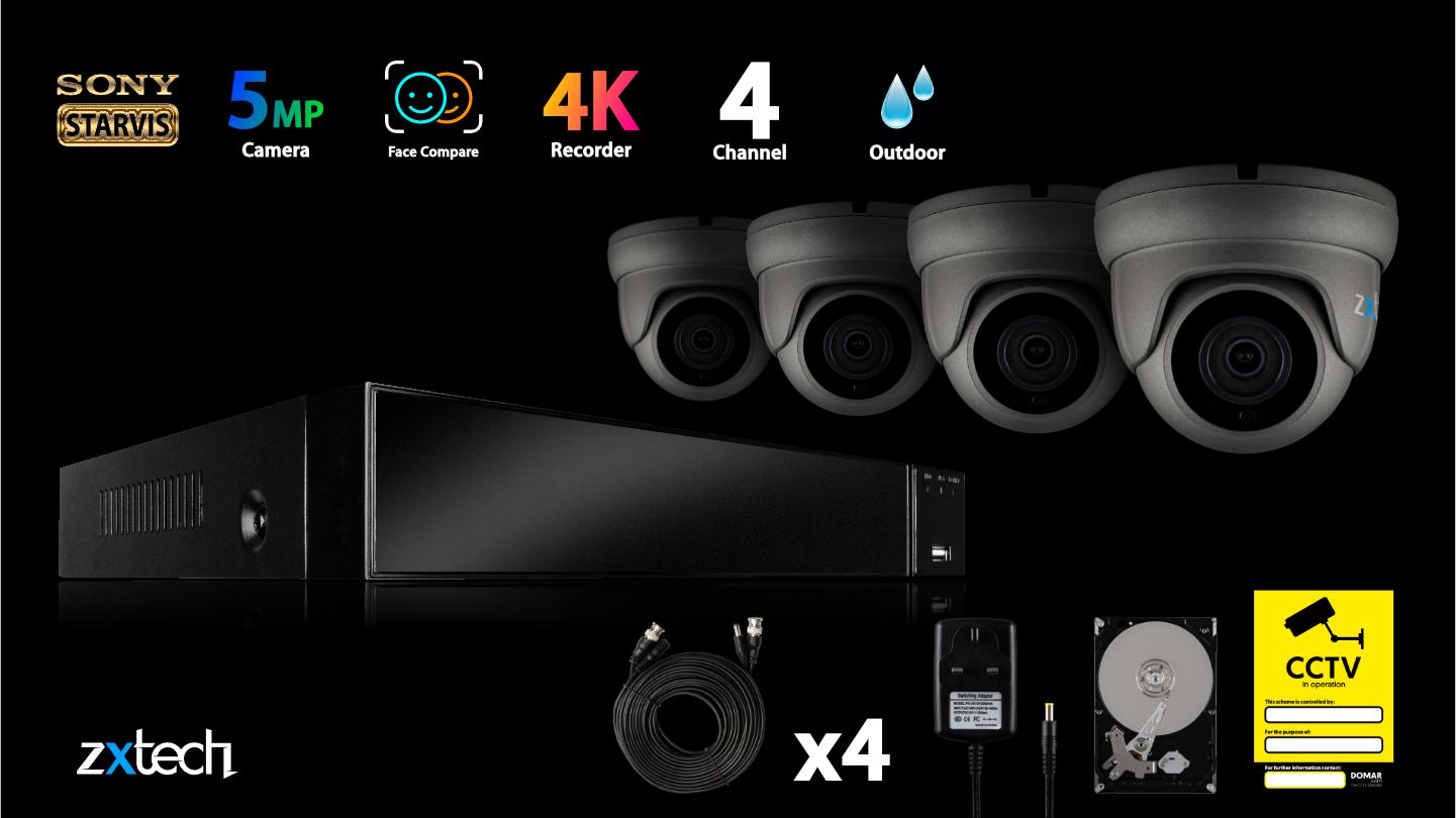 5MP AHD Camera System Full DVR HD Analog Camera Infrared | AF4B4Z