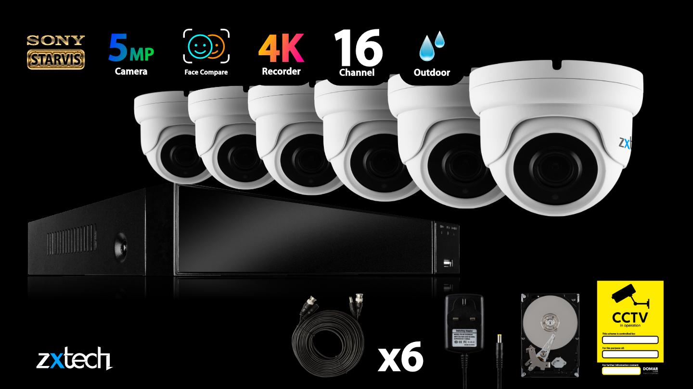 5MP AHD CCTV Kit Home DVR HD Analog Camera Outdoor Varifocal Night Vision 60M | AF5G8Y