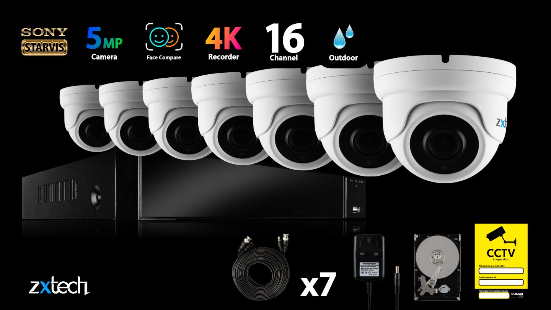 5MP AHD CCTV System All-in-One DVR HD Analog Camera Waterproof Varifocal 60M | AF6G8Y