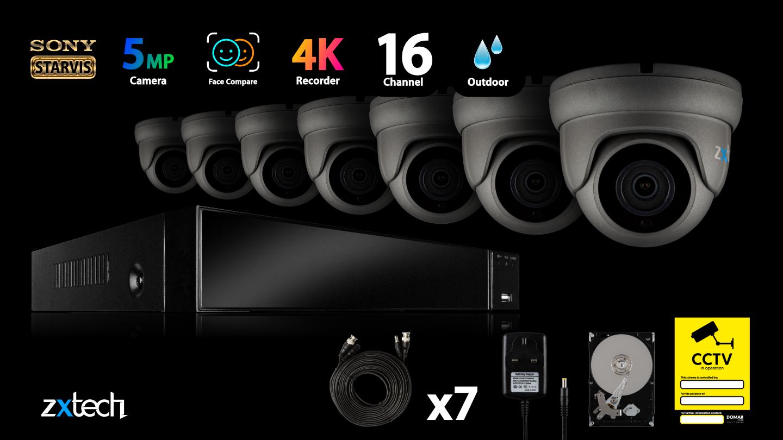 5MP AHD CCTV Kit CCTV DVR HD Analog Camera Compact IR | AF7A8Y