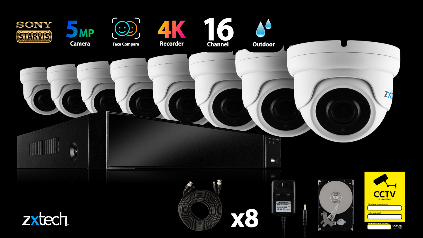 5MP AHD Security System Security HD Analog Camera Outdoor Varifocal 60M   AF7G8Y