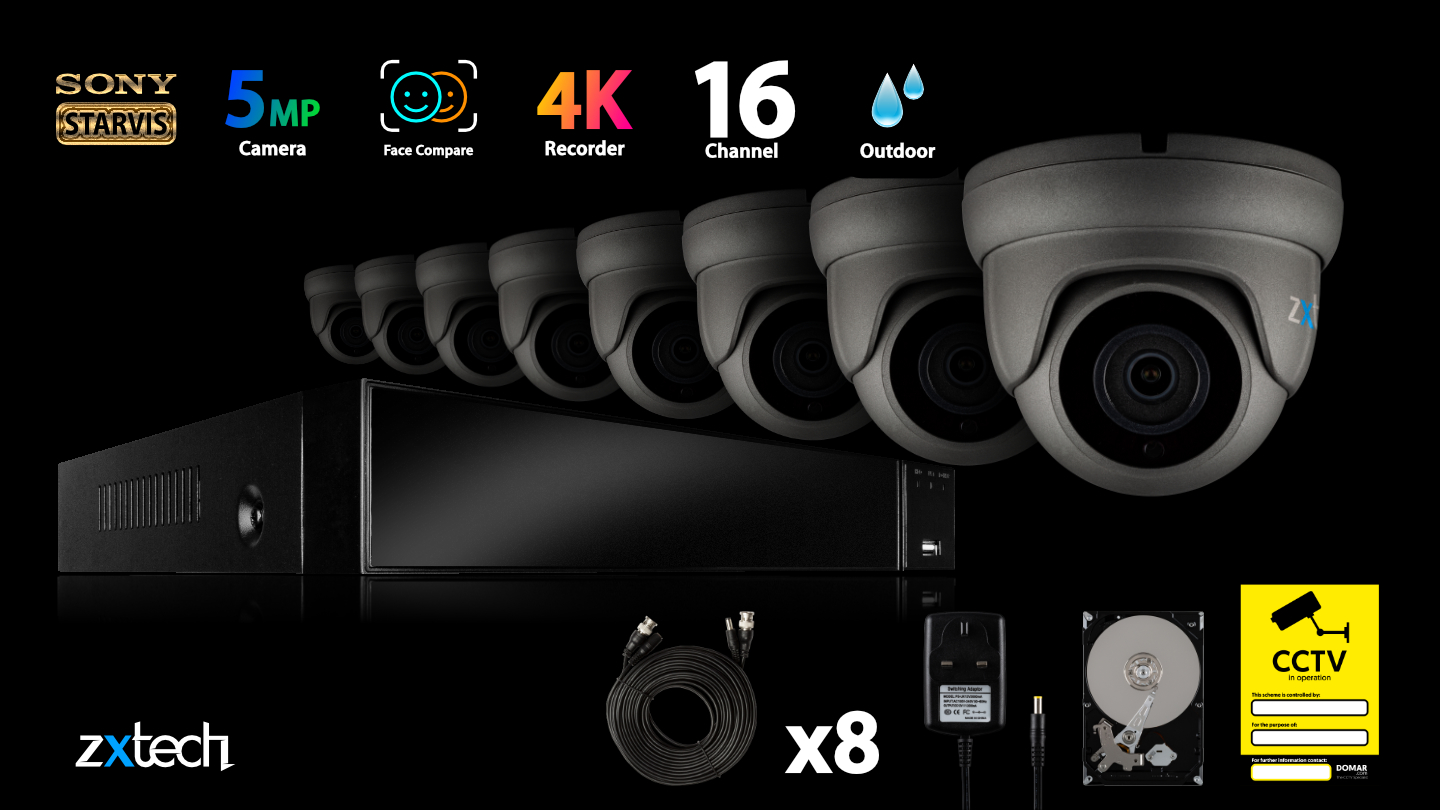 5MP AHD Security System Home Alert DVR HD Analog Camera Outdoor | AF8A8Y