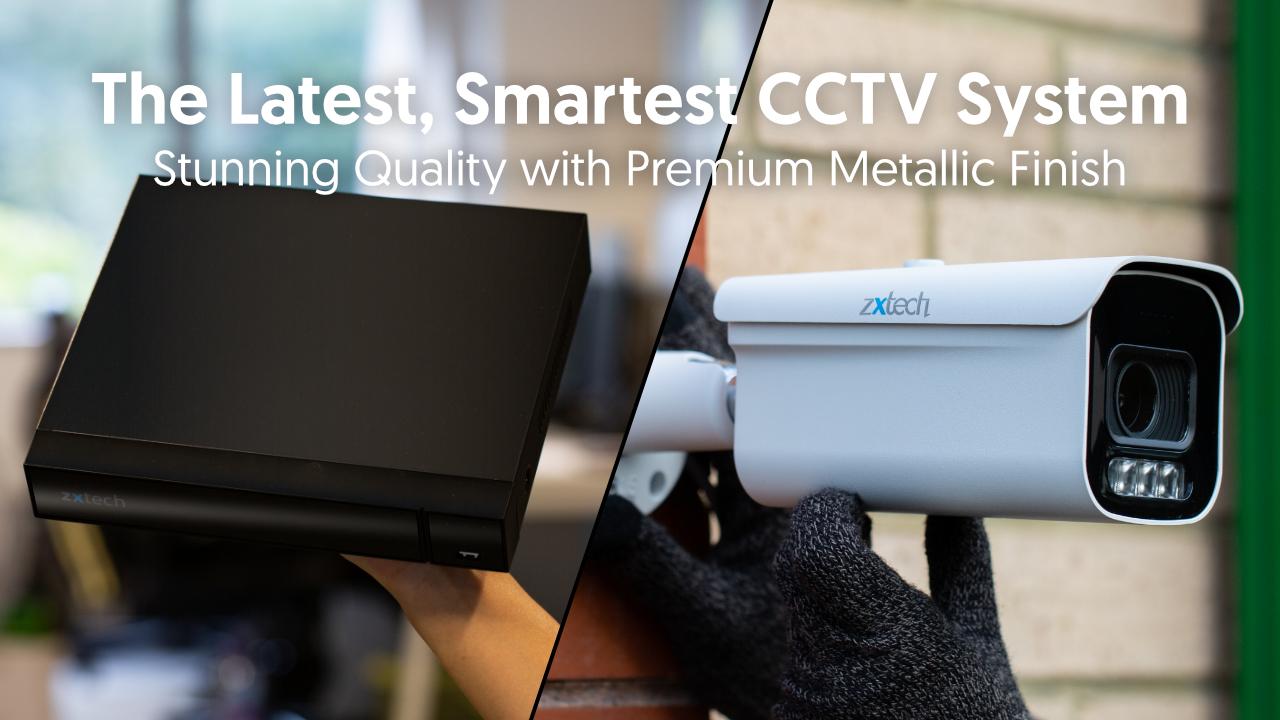 4K CCTV Kit Outdoor Camera PoE Motorised 60M Night Vision | Zxtech | RX1D4Z