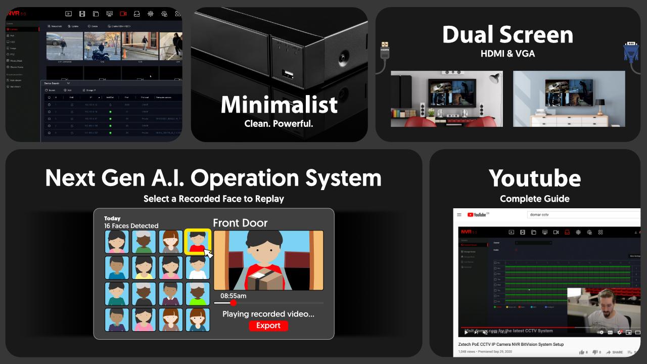 4K CCTV System Face Detection Cameras IP67 Colour | Zxtech | RX4B4Z