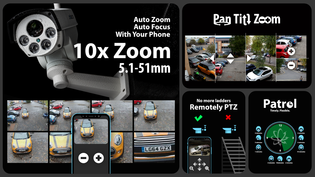 5mp ptz wireless camera system - audio recording 10x zoom sony starvis outdoor 9ch nvr | wf4c9y