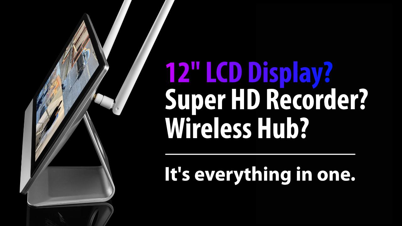 Zxtech Wireless All-in-One inbuilt-screen CCTV Kits with 4x Super HD Wi-Fi Camera